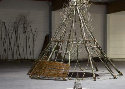 Weiden-Installation, vorne Modell